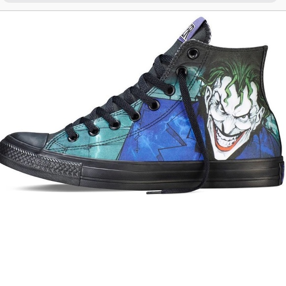 8095f3eac55371 Converse Shoes - New! Converse DC Comics The Joker high top shoes